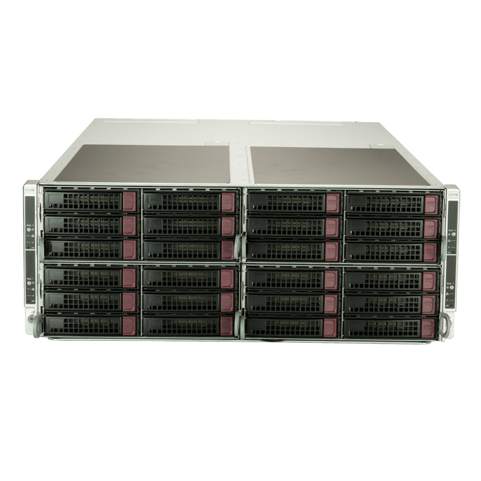SuperServer F629P3-RTBN, 4U FatTwin, Intel C621, 32x SATA or 24x SATA / 8x NVMe, 48x DDR4, 4x SIOM flexible Network card, 1200W Rdt PSU