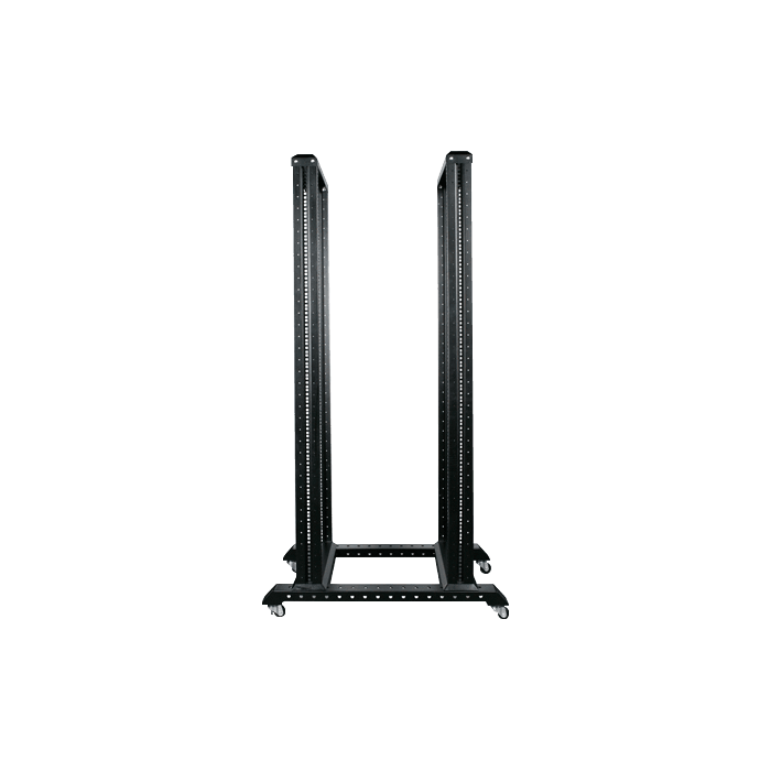 WO36AB-CM1U, 36U, 4 Post Open Frame Rack with 1U Cable Management