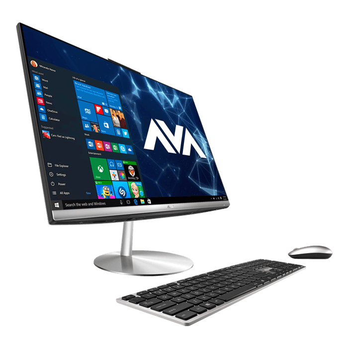 "Zen AiO ZN242GD-DS751T, 23.8"" FHD Touchscreen All-in-One, Intel® Core™ i7-8750H, 8GB DDR4 Memory, 128GB M.2 SATA, 1TB HDD, NVIDIA® GeForce GTX 1050 4GB, Windows 10 Home"