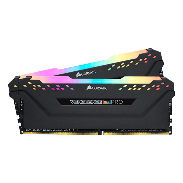 16GB Kit (2 x 8GB) Vengeance RGB Pro DDR4 3000MHz, CL15, Black, RGB LED, DIMM Memory