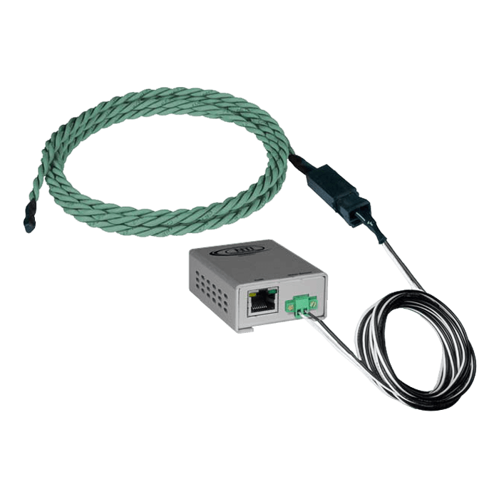 Legacy Chemical Detection Sensor, Rope-Style, 50 ft chemical sensor cable, 100 ft 2-wire cable