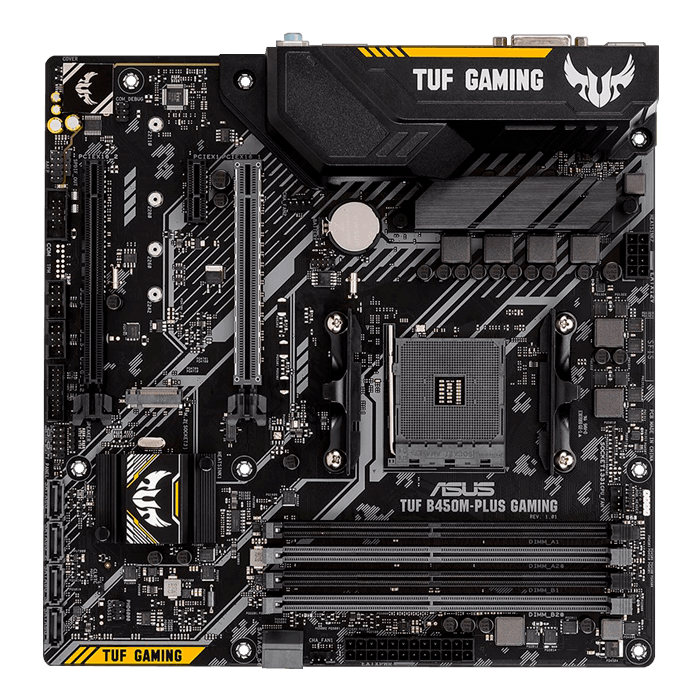 TUF B450M-PLUS GAMING, AMD B450 Chipset, AM4, HDMI, microATX Motherboard