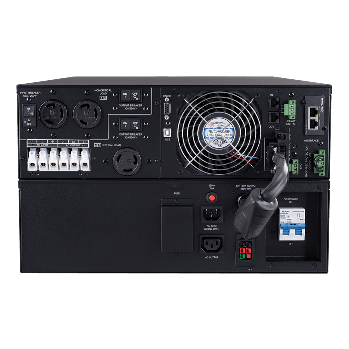 Smart App Online OL8KRT, 8000VA/8000W, 240V, 4 Outlets, Black, Tower/6U Rackmount UPS