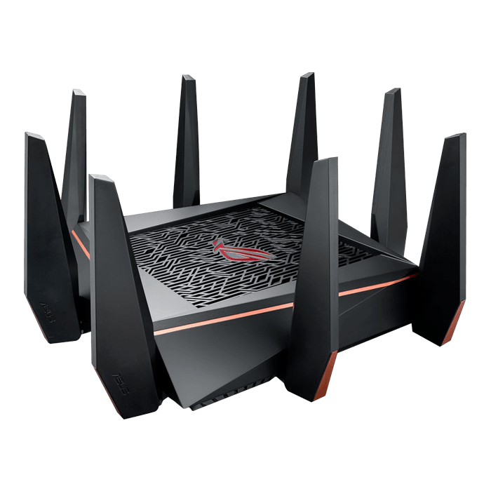 ROG Rapture GT-AC5300, IEEE 802.11ac, Tri-Band 2.4 / 5 / 5GHz, 1000 / 2167 / 2167 Mbps, 8xRJ45, Wireless Router