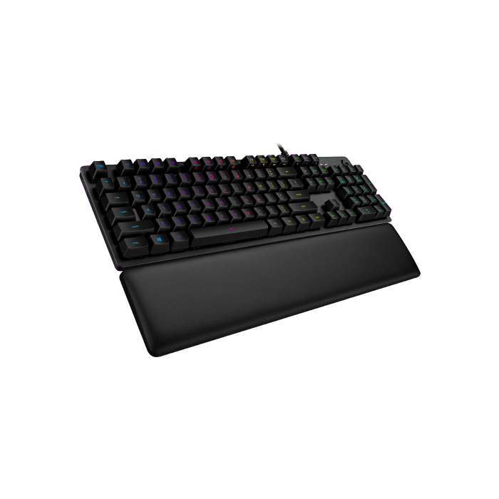 G513, RGB LED, GX Blue Switches, Wired USB, Carbon, Mechanical Gaming Keyboard
