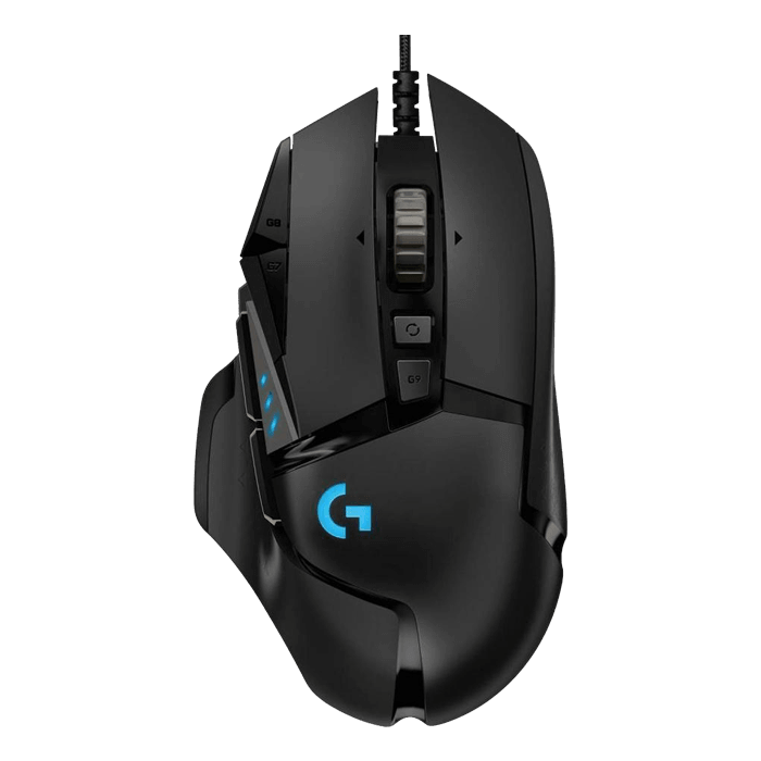 G502 Hero, RGB LED, 16000dpi, Wired USB, Black, Optical Gaming Mouse