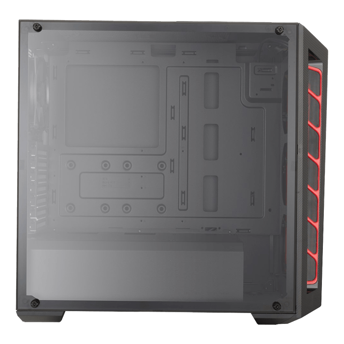 MasterBox MB510L Transparent Side Panel, No PSU, ATX, Black/Red, Mid Tower Case