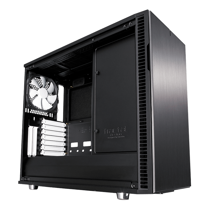 Define R6 USB-C Black, No PSU, E-ATX, Mid Tower Case