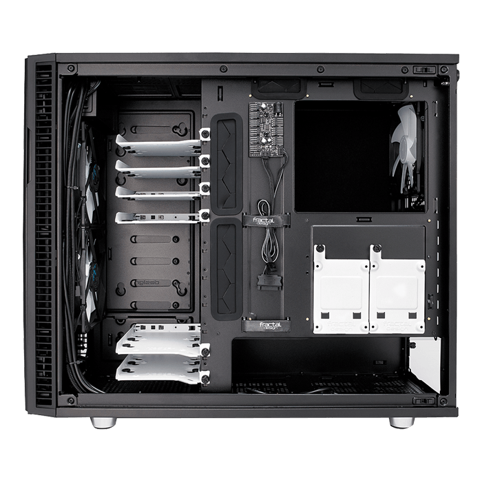 Define R6 USB-C Black – TG Tempered Glass, No PSU, E-ATX, Mid Tower Case