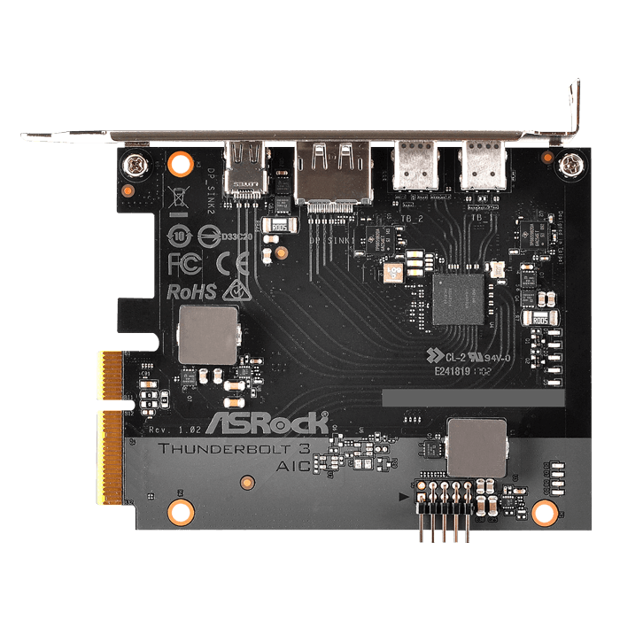 Thunderbolt™ 3 AIC, 2x Thunderbolt™ 3 / DP / Mini DP, PCIe x4 Expansion Card