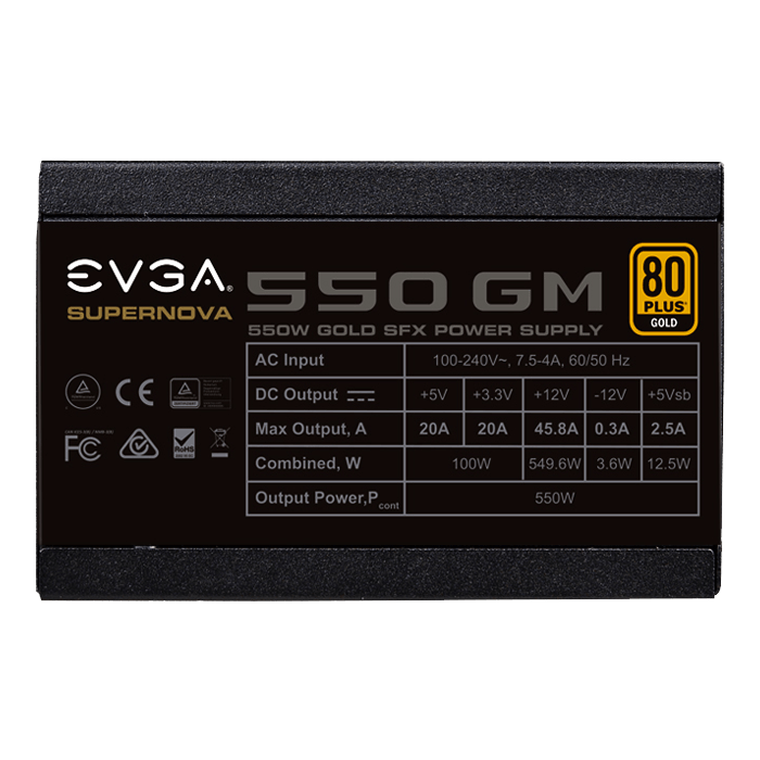 550 GM, 80 PLUS Gold 550W, ECO Mode, Fully Modular, SFX Power Supply