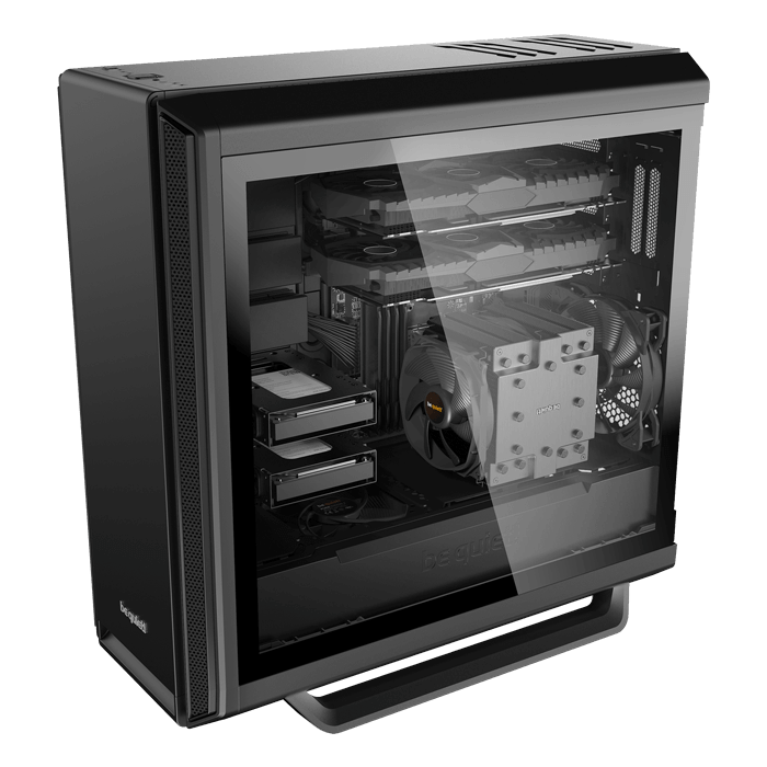 Silent Base 801 Tempered Glass, No PSU, E-ATX, Black, Mid Tower Case