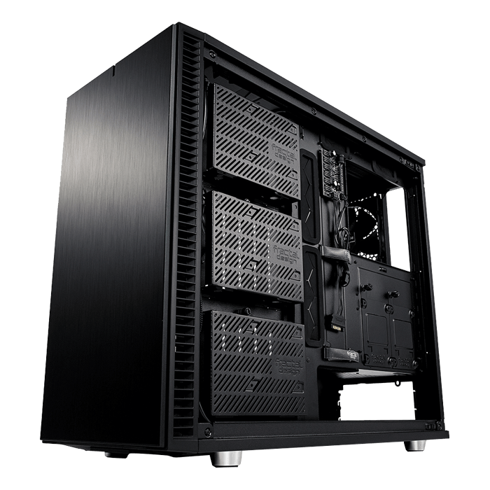 Define S2 Blackout TG Tempered Glass, No PSU, E-ATX, Mid Tower Case
