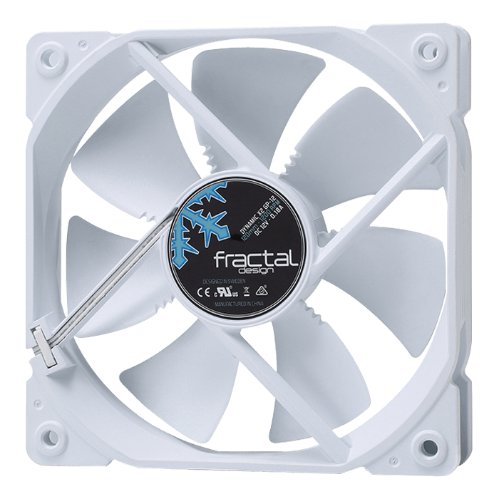 Dynamic X2 GP-12 PWM White 120mm, 1200 RPM, 52.3 CFM, 19.4 dBA, Cooling Fan