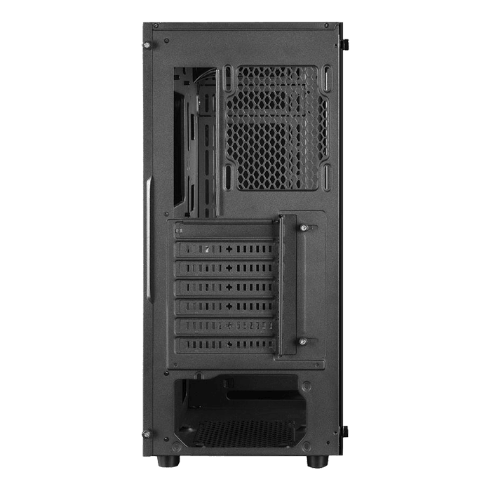 MATREXX 55 Tempered Glass, No PSU, E-ATX, Black, Mid Tower Case