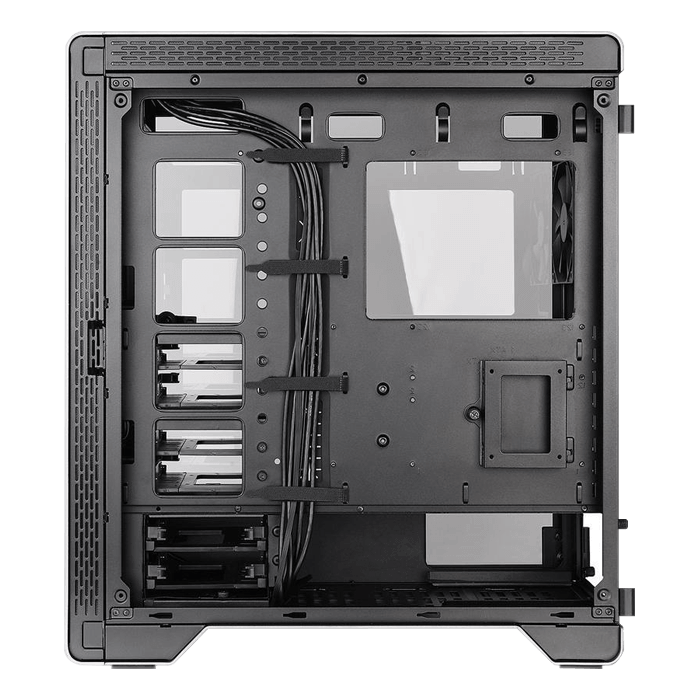 A500 Aluminum Tempered Glass Edition, No PSU, ATX, Space Gray/Black, Mid Tower Case