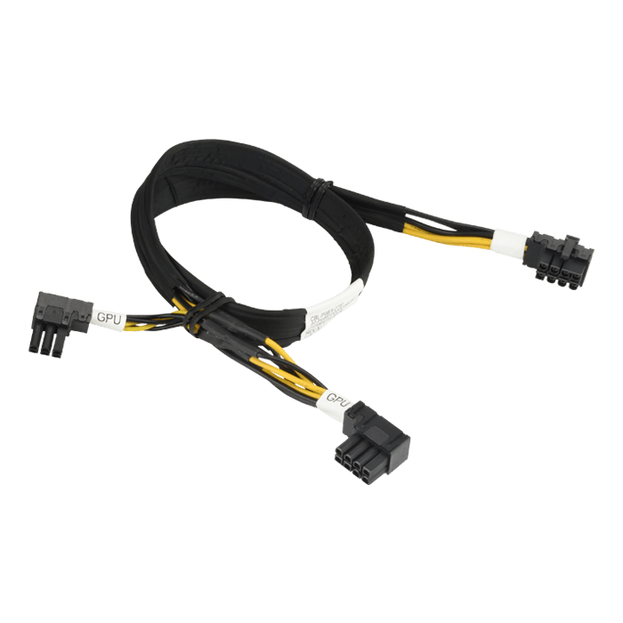 8-Pin Right Angle CPU to 8-Pin + 6-Pin Right Angle PCIe 57cm GPU Cable For Geforce 1 (CBL-PWEX-0790)