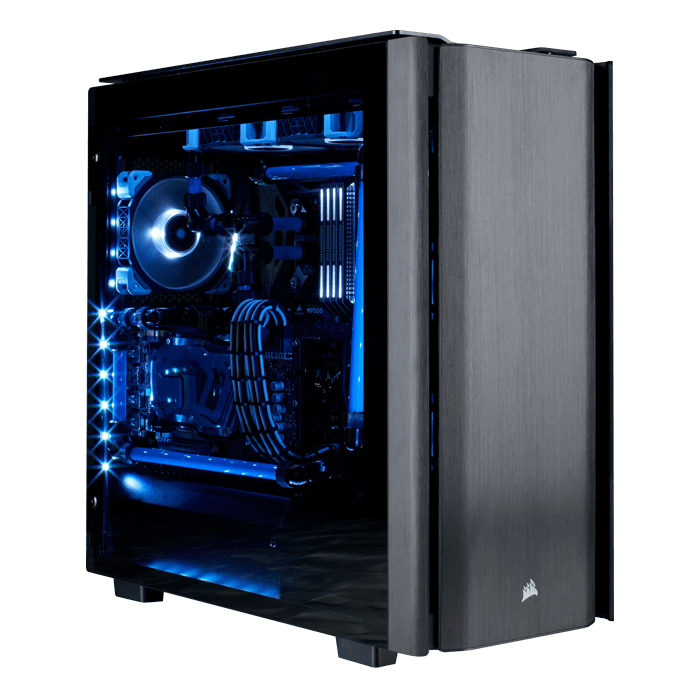 Intel Z390 2-way GPU Hardline Liquid Cooled PC