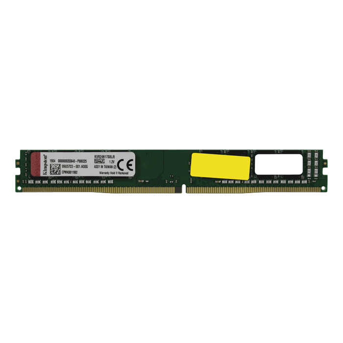 8GB Single-Rank, DDR4 2400MHz, CL17, Non-ECC Unbuffered VLP Memory