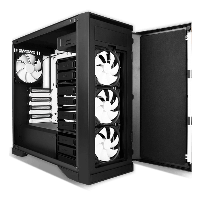 Performance Series P101 Silent, No PSU, E-ATX, Black, Mid Tower Case