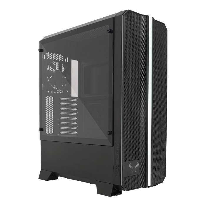 CR1288TG Prism Tempered Glass, No PSU, E-ATX, Black, Full Tower Case