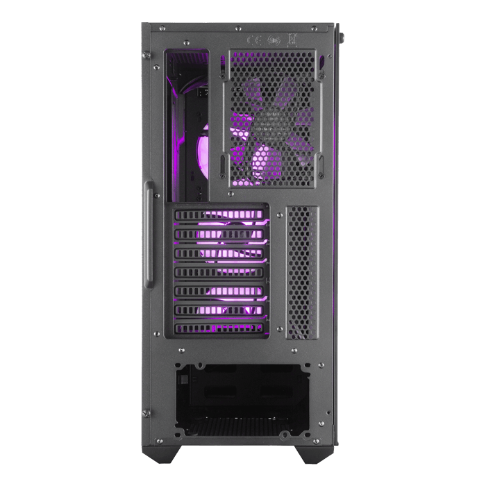 MasterBox MB520 RGB Tempered Glass, No PSU, ATX, Black, Mid Tower Case