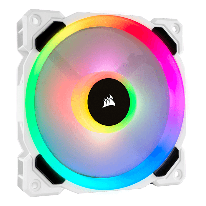 LL120 RGB White 120mm, 2200 RPM, 63 CFM, 36 dBA, Cooling Fans