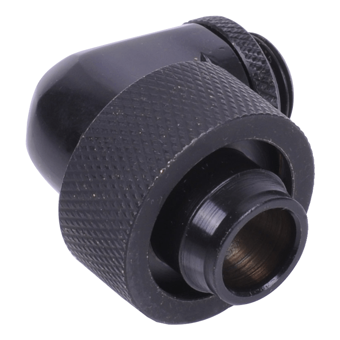 "HF 19/13mm (OD 3/4"" ID 1/2"") Compression Fitting 90° Rotatable G1/4 - Deep Black"