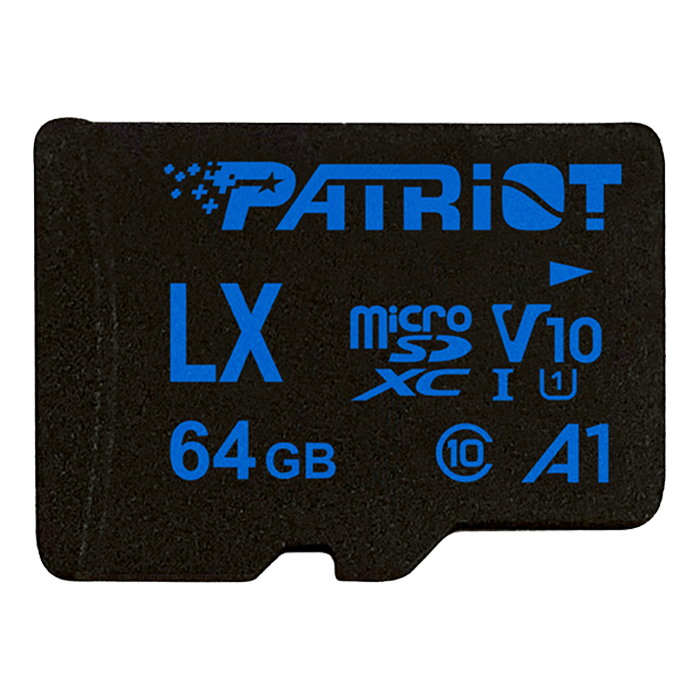 64GB LX Series microSDXC V10 A1 UHS-1 C10 U1 Memory Card with Adapter