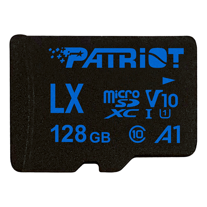 128GB LX Series microSDXC V10 A1 UHS-1 C10 U1 Memory Card with Adapter