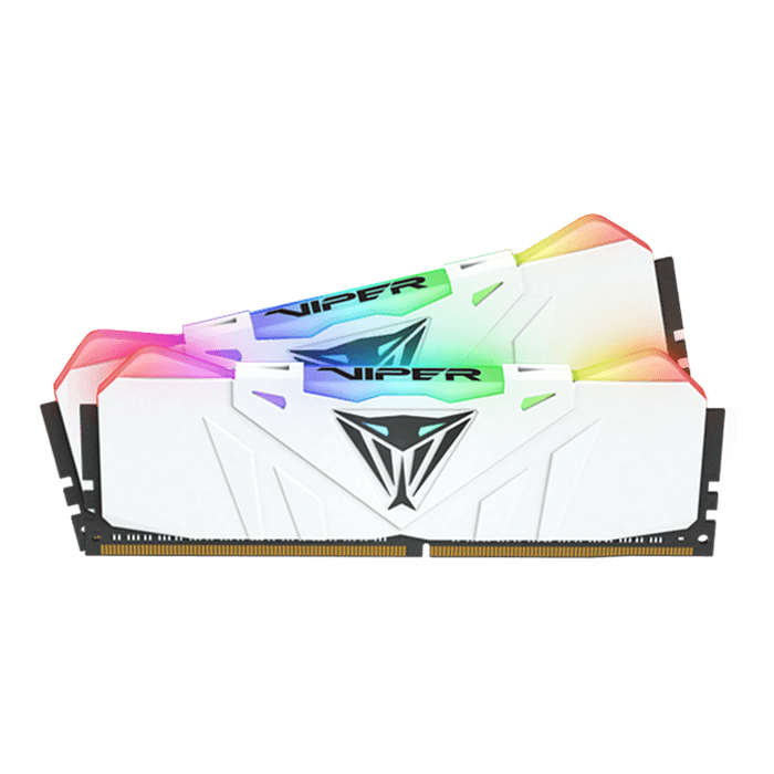 16GB Kit (2 x 8GB) Viper RGB DDR4 3200MHz, CL16, White, RGB LED, DIMM Memory