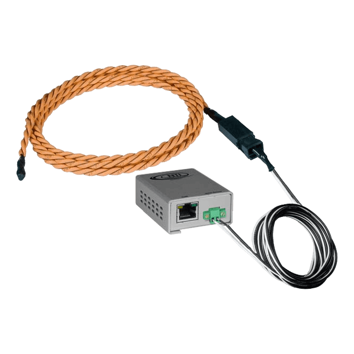 Legacy Liquid Detection Rope Sensor - Length 100 ft water sensor cable, 5 ft 2-wire cable