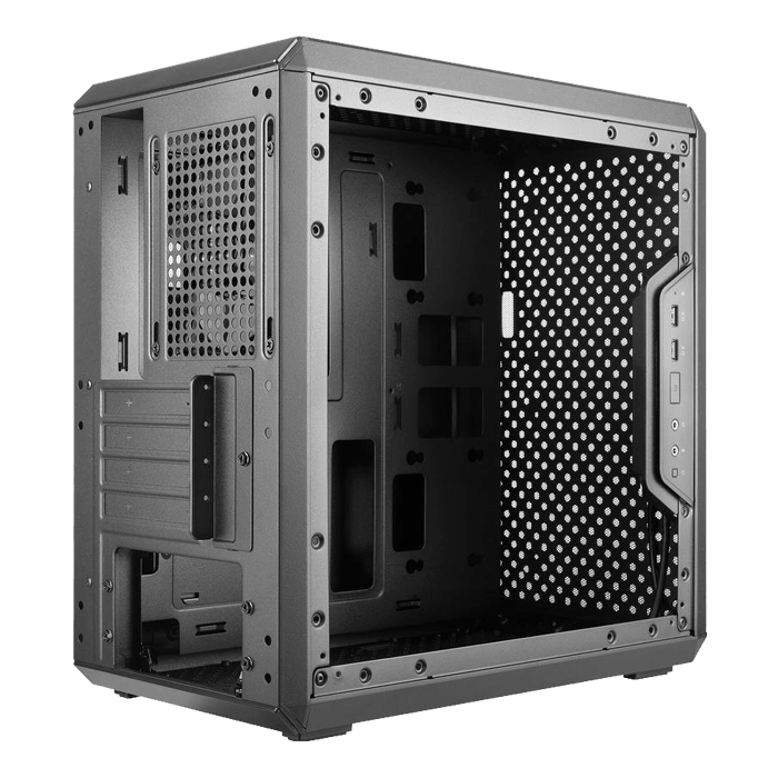 MasterBox Q300L TUF Transparent Side Panel, No PSU, microATX, Black, Mini Tower Case