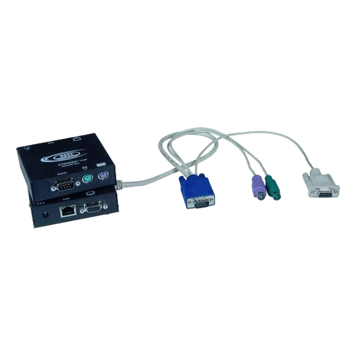 VGA PS/2 KVM Transmitter with RS232: 600 feet