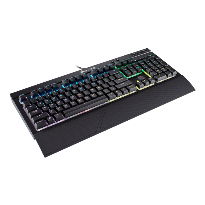 K68 RGB, RGB LED, Cherry MX Red, Wired USB, Black, Mechanical Gaming Keyboard