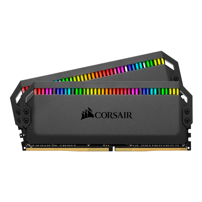 16GB Kit (2 x 8GB) Dominator Platinum RGB DDR4 3200MHz, CL16, Black, RGB LED, DIMM Memory
