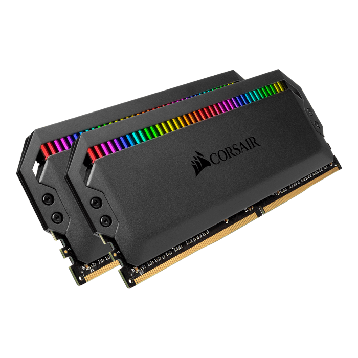 32GB Kit (2 x 16GB) Dominator Platinum RGB DDR4 3200MHz, CL16, Black, RGB LED, DIMM Memory
