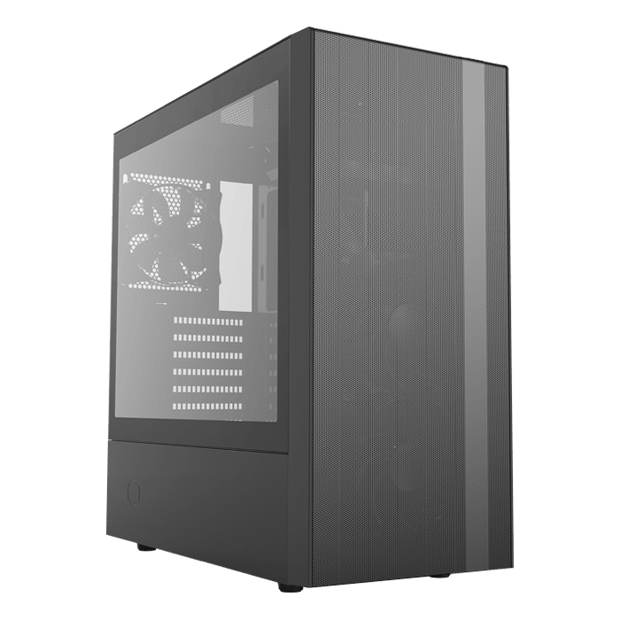 MasterBox NR600 Tempered Glass, No PSU, ATX, Black, Mid Tower Case