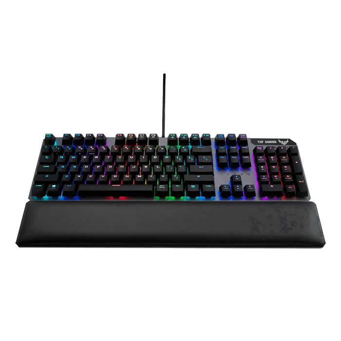 TUF Gaming K7, Aura Sync RGB LED, Optical-Mech Tactile Switches, Wired USB, Black, Gaming Keyboard