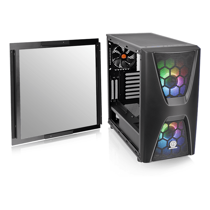 Commander C 34 Tempered Glass ARGB Edition, No PSU, ATX, Black, Mid Tower Case