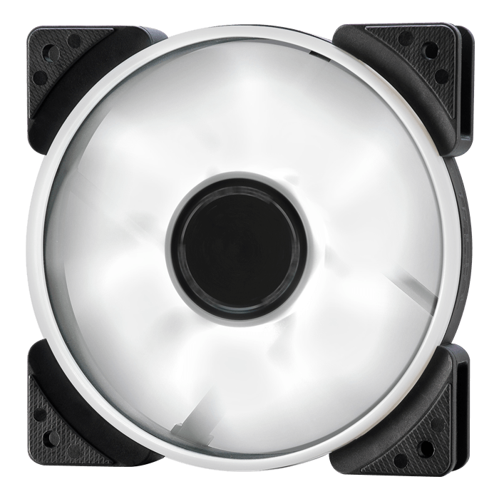 Prisma SL-14 140mm, White LEDs, 1000 RPM, 63.33 CFM, 19.4 dBA, Cooling Fan