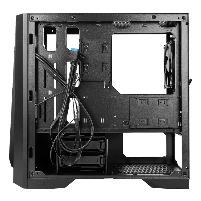 DP301M Tempered Glass, No PSU, microATX, Black, Mid Tower Case