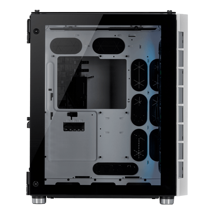 Crystal Series 680X RGB Tempered Glass, No PSU, E-ATX, White, Mid Tower Case