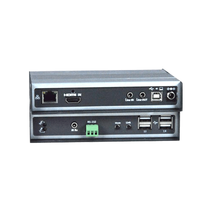 4K 10.2Gbps HDMI USB KVM Extender Over IP via CATx Cable with Video Wall Support, Remote Unit