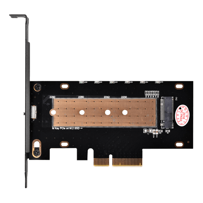 SST-ECM24 M.2 NVMe SSD to PCIe 3.0 x4 Adapter w/ Heatsink