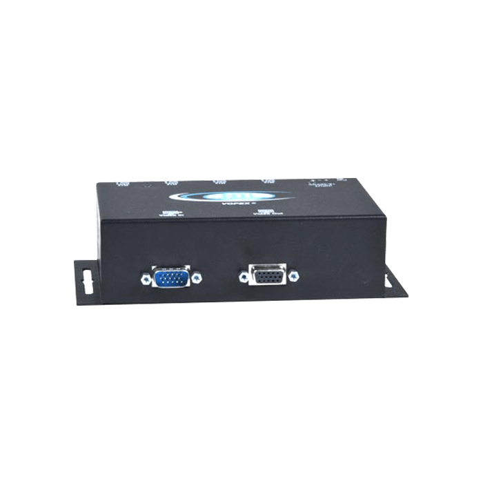 Industrial VGA Splitter/Extender via CAT5 with M12 Connectors to 600 feet: 4-Port