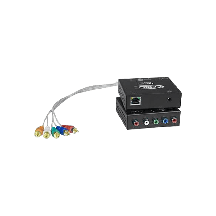 Component Video + Stereo Audio Transmitter via CATx to 600 feet