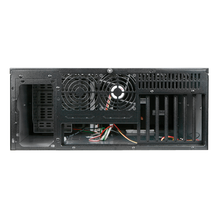 "D Storm D-407LSE-SL-TS859, Silver Bezel, w/ 8"" Touch Screen LCD, 3x 5.25"", 1x 3.5"" Drive Bays, No PSU, E-ATX, Black/Silver, 4U Chassis"