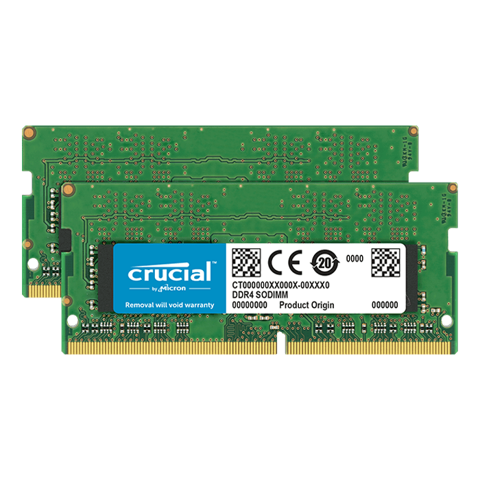 16GB Kit (2 x 8GB) DDR4 3200MHz, CL22, SO-DIMM Memory