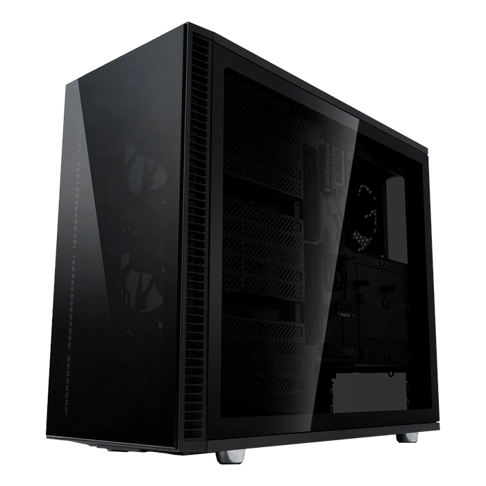 Define S2 Vision Blackout Tempered Glass, No PSU, E-ATX, Mid Tower Case